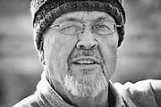 Photographer Jack Dykinga at Grand Teton National Park, September, 2012.
