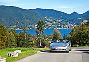 Tegernsee, Bavaria, Germany. A Porsche car in the foreground