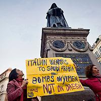 Rete No War contro la visita di Matteo Renzi in Arabia Saudita