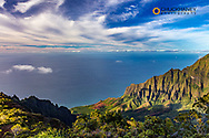 The Napali Coast Wilderness at Kokee State Park in Kauai, Hawaii, USA