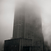 30 Rockefeller Plaza as seen in the Fog.  The former The RCA Building is now owned by Comcast and NBC Universal