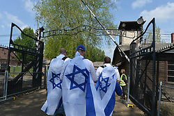 May 2, 2019 - Oswiecim, Poland - Thousands of young Jewish people from Israel and from all around the world arrived at the former German Nazi Death Camp Auschwitz-Birkenau to take part in the annual March of the Living in Oswiecim, Poland. (Credit Image: © Artur Widak/NurPhoto via ZUMA Press)