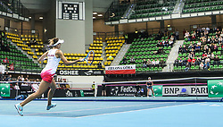 February 6, 2019 - Zielona Gora, Poland - Magda Linette (POL) during Tennis 2019 Fed Cup by Paribas Europe/Africa Zone Group 1  match between Poland and Russia  in Zielona Gora, Poland, on 7 February 2019. (Credit Image: © Foto Olimpik/NurPhoto via ZUMA Press)