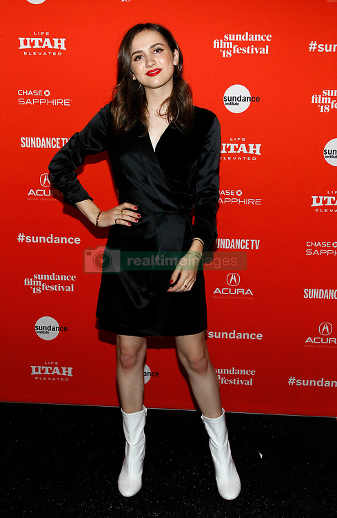 """Maude Apatow, Abra, Odessa Young, Bella Thorne, Suki Waterhouse, Hari Nef at the premiere of """"Assassination Nation"""" during the 2018 Sundance Film Festival held at the Library Theatre on January 21, 2018 in Park City, UT. © JPA / AFF-USA.COM. 21 Jan 2018 Pictured: Maude Apatow. Photo credit: JPA / AFF-USA.COM / MEGA TheMegaAgency.com +1 888 505 6342"""