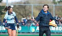 LAREN - Hockey - Hoofdklasse competitie dames . Laren-Den Bosch (1-2). assistent coach Diederik van Weel  met Florine van Grimbergen (Laren)  COPYRIGHT KOEN SUYK