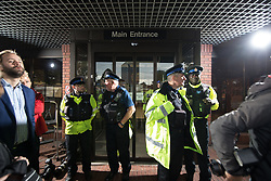 © Licensed to London News Pictures . 18/09/2017 . Stockport , UK . Media and police waiting for the arrival of Everton footballer Wayne Rooney at Stockport Magistrates Court where Rooney faces a drink-driving charge . The former England and Manchester United captain was arrested by police whilst driving in Wilmslow in Cheshire during the early hours of 1st September . Photo credit: Joel Goodman/LNP