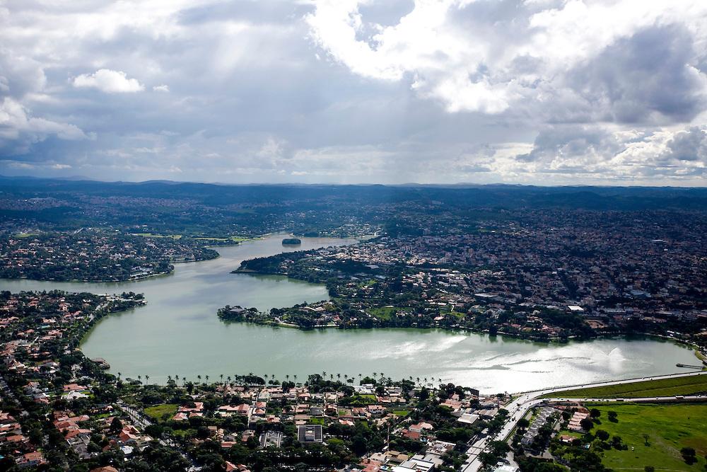 Belo Horizonte_MG, Brasil...Imagem aerea da Lagoa da Pampulha em Belo Horizonte...The aerial view of Pampulha lake in Belo Horizonte...Foto: BRUNO MAGALHAES / NITRO