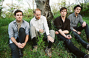 """BIRMINGHAM, AL - APRIL, 2009: Nashville-based Ameritronica group Paper Route.<br /> <br /> In the music industry, the path to success is a thousand miles long and paved with sleepless nights. """"There's something about losing the mistique of all this that's just so crippling,"""" says JT Daly, Paper Route's frontman."""