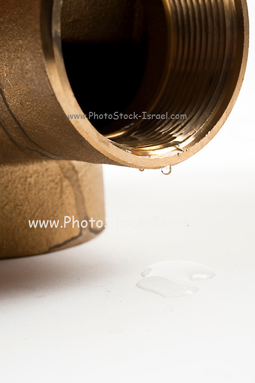 Cutout of a pipe joint on white background