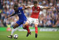 17 September 2017 -  Premier League - Chelsea v Arsenal - Victor Moses of Chelsea tangles with Granit Xhaka of Arsenal - Photo: Marc Atkins/Offside