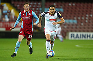 Antoni Sarcevic ,Alfie Beestin  during the EFL Sky Bet League 2 match between Scunthorpe United and Bolton Wanderers at the Sands Venue Stadium, Scunthorpe, England on 24 November 2020.