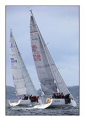 Savills Kip Regatta 2011, the opening regatta of the Scottish Yachting Circuit, held on the Clyde...Class 3, Imadjinn, GBR8755R, A31, and Jackaroo. J97, GBR2097R.