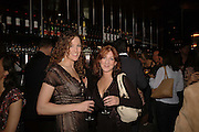 Lydia Purnell and Miss Talia Hazeldine, Spring party at Frankie Dettori's bar and Grill. 3 Yeoman's Row. London sw3. 10 April 2006. ONE TIME USE ONLY - DO NOT ARCHIVE  © Copyright Photograph by Dafydd Jones 66 Stockwell Park Rd. London SW9 0DA Tel 020 7733 0108 www.dafjones.com