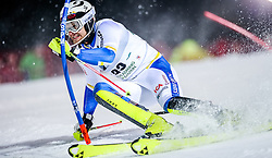 26.01.2016, Planai, Schladming, AUT, FIS Weltcup Ski Alpin, Schladming, Slalom, Herren, 1. Durchgang, im Bild Anton Lahdenperae (SWE) // Anton Lahdenperae of Sweden competes during his 1st run of men's Slalom Race of Schladming FIS Ski Alpine World Cup at the Planai in Schladming, Austria on 2016/01/26. EXPA Pictures © 2016, PhotoCredit: EXPA/ Johann Groder