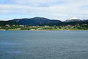 Small coastal farming settlement south of Trondheim, Sor-Trondelag county, Norway