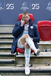 A dejected Finn Russell of Racing 92 takes a phone call after the final whistle of the match  - Mandatory by-line: Rogan/JMP - 17/10/2020 - RUGBY - Ashton Gate Stadium - Bristol, England - Exeter Chiefs v Racing 92 - Heineken Champions Cup Final