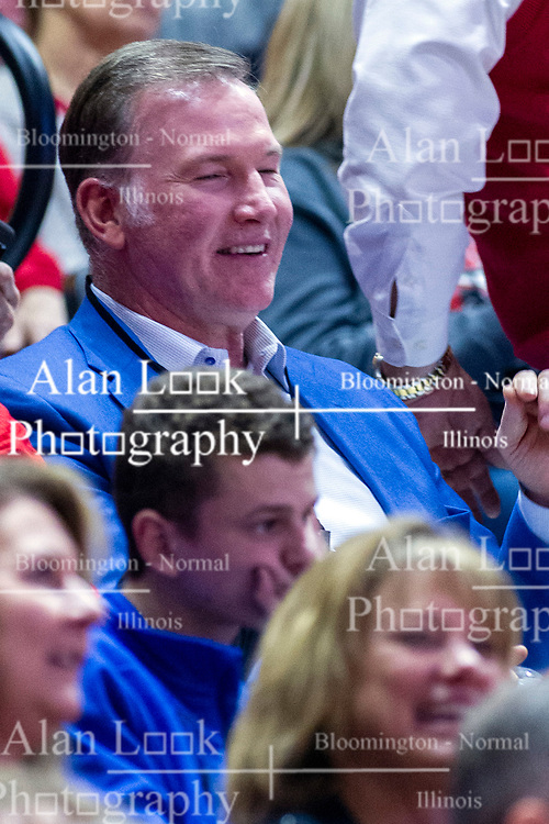 NORMAL, IL - February 08:  Jim Cornelison during a college basketball game between the ISU Redbirds and the Indiana State Sycamores on February 08 2020 at Redbird Arena in Normal, IL. (Photo by Alan Look)