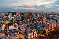 Overview of the skyline, Ho Chi Minh City (Saigon), the largest city in Vietnam.