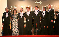Viggo Mortensen, Kristen Stewart, Tom Sturridge, Danny Morgan, Sam Riley, Director Walter Salles, Garret Hedlund, at the On The Road gala screening red carpet at the 65th Cannes Film Festival France. The film is based on the book of the same name by beat writer Jack Kerouak and directed by Walter Salles. Wednesday 23rd May 2012 in Cannes Film Festival, France.
