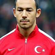 Turkey's Umut Bulut during their UEFA Euro 2016 qualification Group A soccer match Turkey betwen Kazakhstan at AliSamiYen Arena in Istanbul November 16, 2014. Photo by Kurtulus YILMAZ/TURKPIX