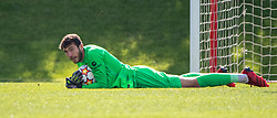 LIVERPOOL, ENGLAND - Wednesday, September 15, 2021: Liverpool's goalkeeper Harvey Davies  during the UEFA Youth League Group B Matchday 1 game between Liverpool FC Under19's and AC Milan Under 19's at the Liverpool Academy. Liverpool won 1-0. (Pic by David Rawcliffe/Propaganda)