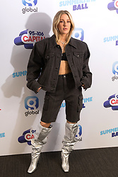 Ellie Goulding on the red carpet of the the media run during Capital's Summertime Ball. The world's biggest stars perform live for 80,000 Capital listeners at Wembley Stadium at the UK's biggest summer party.