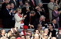 Photo: Jed Wee/Sportsbeat Images.<br /> Liverpool v Arsenal. The Barclays Premiership. 31/03/2007.<br /> <br /> Liverpool's new owners Tom Hicks (C) and George Gillett (R) celebrate after their new team take a 2-0 lead.