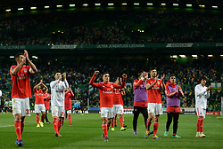 LISBON, Feb. 4, 2019  Players of Benfica greet the spectators after the Portuguese League soccer match between SL Benfica and Sporting CP in Lisbon, Portugal, Feb. 3, 2019. Benfica won 4-2. (Credit Image: © Xinhua via ZUMA Wire)