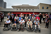 """KUNMING, CHINA - SEPTEMBER 06: (CHINA OUT)<br /> <br /> Flying Tiger Veterans Visit The Cultural Relics Exhibition Of The Flying Tigers In Kunming<br /> <br /> Flying Tiger veterans visit The Cultural Relics\' Exhibition of the \""""Flying Tigers\"""" at Kunming Museum on September 6, 2015 in Kunming, Yunnan Province of China.<br /> <br /> The 1st American Volunteer Group (AVG) of the Chinese Air Force in 1941–1942, nicknamed the Flying Tigers, was composed of pilots from the United States Army Air Corps (USAAC), Navy (USN), and Marine Corps (USMC), recruited under presidential authority and commanded by Claire Lee Chennault. The shark-faced nose art of the Flying Tigers remains among the most recognizable image of any individual combat aircraft or combat unit of World War II.<br /> ©Exclusivepix Media"""