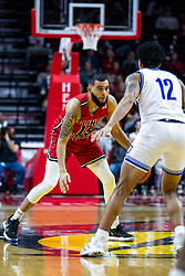 NORMAL, IL - February 22: Lijah Donnelly defended by Roman Penn during a college basketball game between the ISU Redbirds and the Drake Bulldogs on February 22 2020 at Redbird Arena in Normal, IL. (Photo by Alan Look)