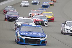 June 10, 2018 - Brooklyn, Michigan, U.S - NASCAR drivers follow the pace car into turn one during the 50th Annual FireKeepers Casino 400 at Michigan International Speedway. (Credit Image: © Scott Mapes via ZUMA Wire)