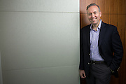 Juniper CMO Mike Marcellin poses for a portrait at Juniper in Sunnyvale, California, on February 23, 2017. (Stan Olszewski for Silicon Valley Business Journal)