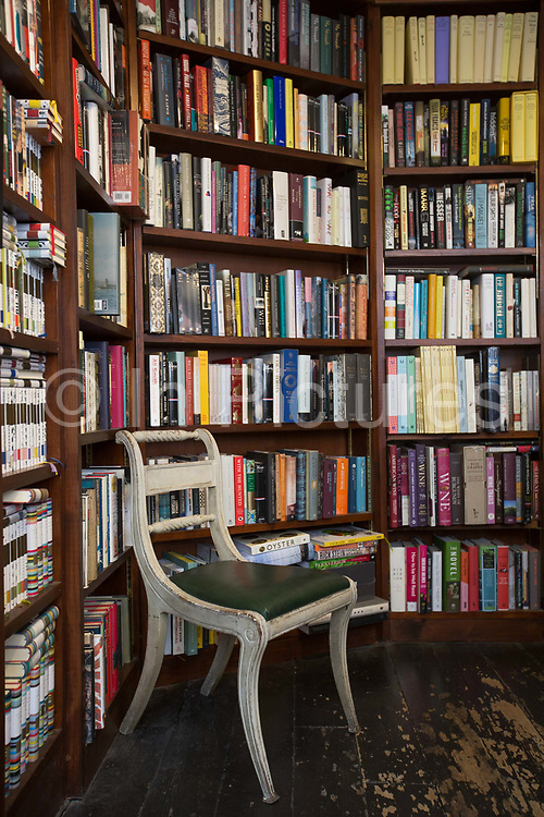 Interior of John Sandoe bookshop on 19th October 2015 in London, United Kingdom. Independent bookshop since 1957, crammed with thousands of fiction, non-fiction and classic titles