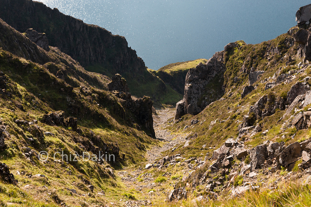 The gullies down to Wastwater Screes are precipitously steep!