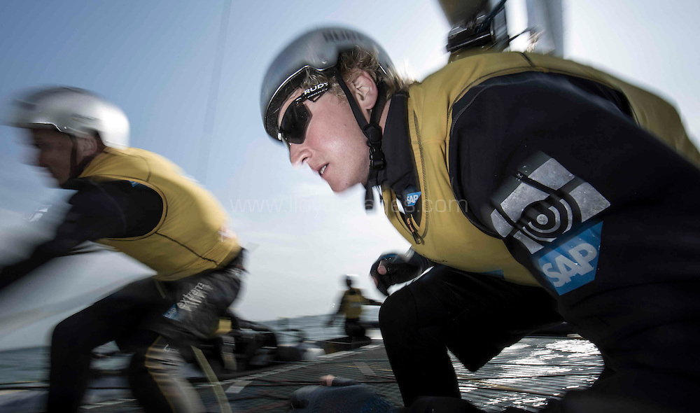 The Land Rover Extreme Sailing Series 2014.  <br /> Act 3. Qingdao. China<br /> <br /> Credit - Lloyd Images