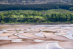 View of seashore at Applecross on the North Coast 500 scenic driving route in northern Scotland, UK