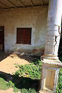 Cracked column in Puerto Esperanza, Pinar del Rio, Cuba.