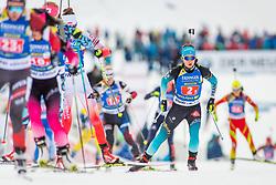 Anais Chevalier (FRA) during Single Mixed Relay at day 1 of IBU Biathlon World Cup 2018/19 Pokljuka, on December 2, 2018 in Rudno polje, Pokljuka, Pokljuka, Slovenia. Photo by Ziga Zupan / Sportida