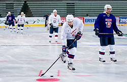 Practice session of Slovenian National Ice Hockey team first time in Arena Stozice before 2012 IIHF World Championship DIV I Group A in Slovenia, on April 13, 2012, in Arena Stozice, Ljubljana, Slovenia. (Photo by Vid Ponikvar / Sportida.com)