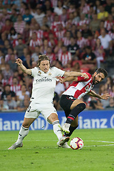 September 15, 2018 - Raul Garcia of Athletic Club and Modric of Real Madrid in action during the match played in Anoeta Stadium between Athletic Club and Real Madrid CF in Bilbao, Spain, at Sept. 15th 2018. Photo UGS/AFP7 (Credit Image: © AFP7 via ZUMA Wire)