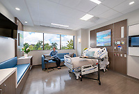 Interior design image of Virginia Hospital Center 4th Floor Patient Unit by Jeffrey Sauers of CPI Productions