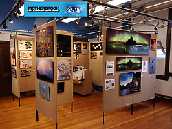 Mermaiden Studio's Booth set up at Motherbrook Art and Community Center, Dedham, Massachusetts, 2019. In addition to this display space, five additional pieces of her work were hung in the exhibit halls with the other select artists.