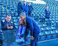 Chris Hughton poses with fans of Brighton and Hove Albion during the Sky Bet Championship match at Craven Cottage, London<br /> Picture by Richard Brooks/Focus Images Ltd 07947656233<br /> 02/01/2017