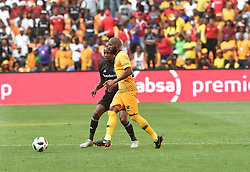 South Africa: Johannesburg: Orlando Pirates player Linda Mntambo challenges for the ball against Kaizer Chiefs player Ramahlwe Mphahlele during the Soweto derby, for the Absa Premiership at FNB Stadium, Gauteng.<br />Picture: Itumeleng English/African News Agency (ANA)