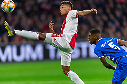 13-03-2019 NED: Ajax - PEC Zwolle, Amsterdam<br /> Ajax has booked an oppressive victory over PEC Zwolle without entertaining the public 2-1 / David Neres #7 of Ajax