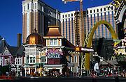Casino Royale and Macdonalds giant arch, The Strip, Las Vegas, Nevada, USA