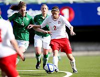 Fotball , Second Qualifying Round<br /> UEFA WU 17 <br /> Briskeby Hamar , Norway<br /> 24.03.12<br /> Poland  v  Republic of Ireland  0-1<br /> Foto: Dagfinn Limoseth, Digitalsport<br /> <br /> Ciara O`Connell  , Republic of Ireland , Nikol Kaletka , Poland