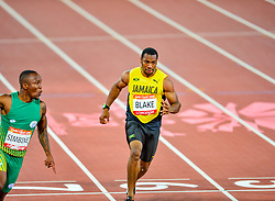 To add to his poor performance this evening Yohan BLAKE (Jamaica) appears to have run out of his lane in the Commonwealth Games 2018 - Athletics - Mens - 100m Final - Blake runs out of lane. Crossing the lane dividing line could mean disqualification for Blake. Blake finished third in the Final this evening at Carrara Stadium, despite being the second fastest man in history.