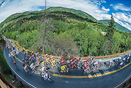 The 2014 USA Pro Cycling Challenge bicycle race in Aspen, Colorado.