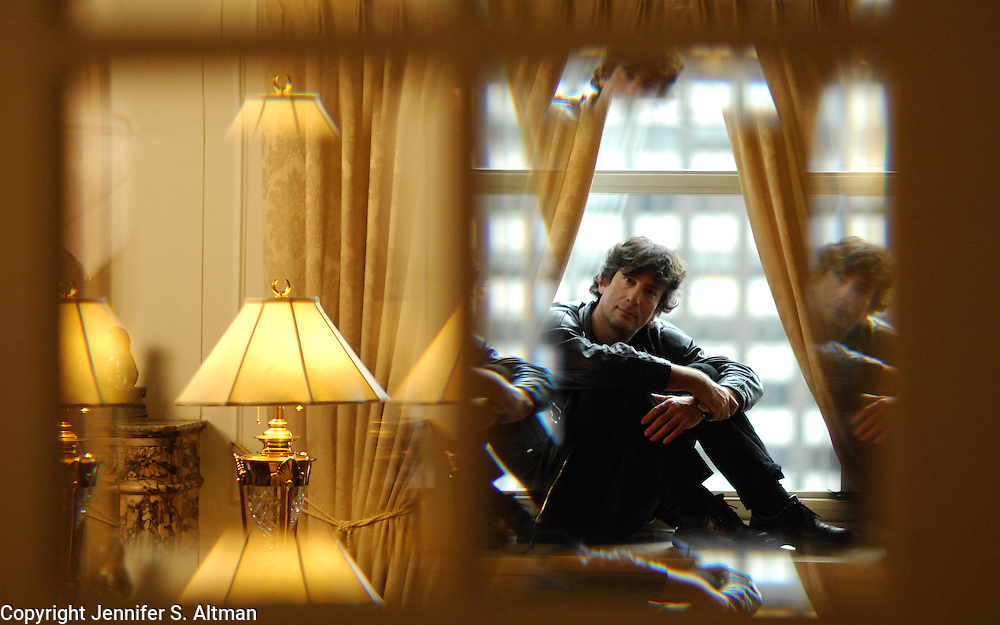 Neil Gaiman, author Stardust, is seen at the Waldorf Astoria Hotel in Manhattan, NY. 7/16/2007 Photo by Jennifer S. Altman/For The Times